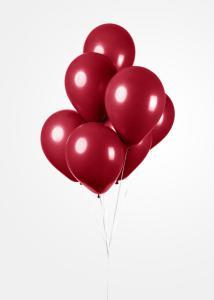 Ballonnen - Burgundy / Bordeaux rood - 10 stuks, 30 cm
