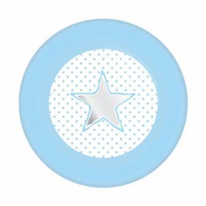 Kartonnen bordjes blauw met ster 8-stuks