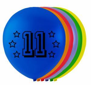 Ballonnen cijfer 11 - 8 stuks 26cm