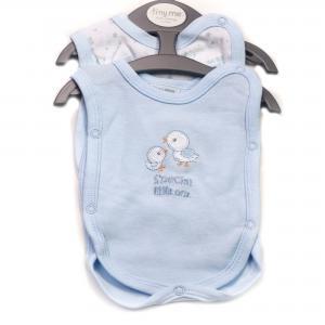 Prematuur (ziekenhuis) hemdjes blauw 2 st. voor baby's van 0,5-1kg