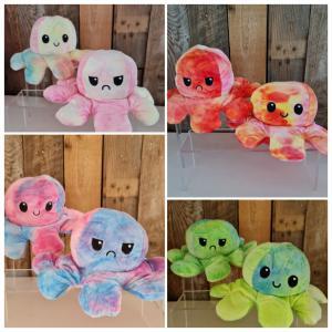 Tie Dye - Mood octopus omkeerbaar - Paars en roze