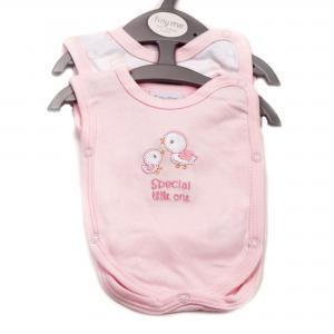 Prematuur (ziekenhuis) hemdjes roze 2 stuks voor baby's van 1 - 1.5 kg
