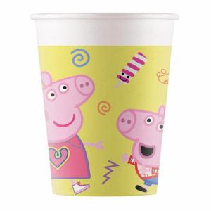 Peppa Big - Kartonnen bekers - 8 stuks, 200ml