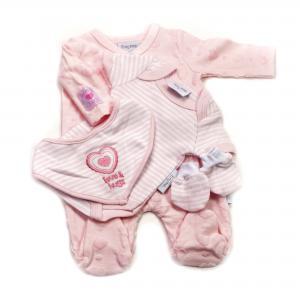 Prematuur lief 4-delig babypakje roze - 1,4 - 2,3kg