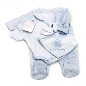 Prematuur lief 4-delig babypakje blauw  2,3 - 3,6kg