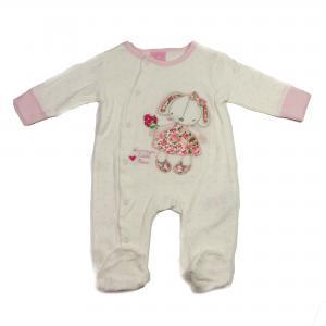 Baby pakje 5-delig roze/wit konijn  62/68