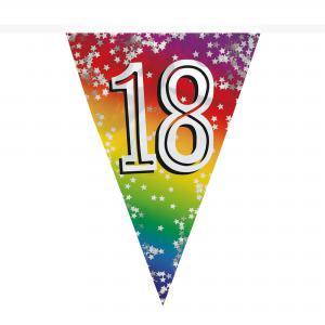 Vlaggenlijn regenboog 18 jaar