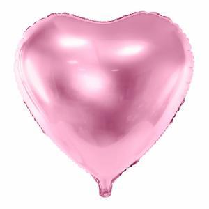 XXL folieballon - Roze hart - 61 cm / 24 inch