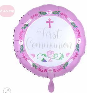 Folieballon - Eerste communie meisje  - 43 cm / 17 inch