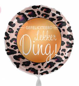 Folieballon - Gefeliciteerd lekker ding! - 43 cm / 17 inch