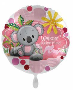 Folieballon - Welkom kleine meid - 43 cm / 17 inch