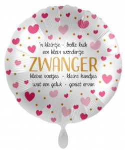 Folieballon - Zwanger - 43 cm / 17 inch