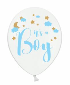 Ballon - It is a boy 30 cm 6-stuks