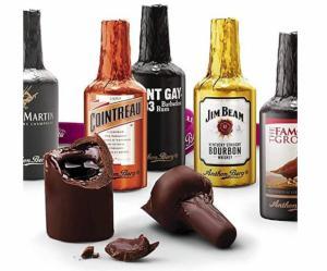 Anthon Berg chocolade likeur flesjes 16 stuks