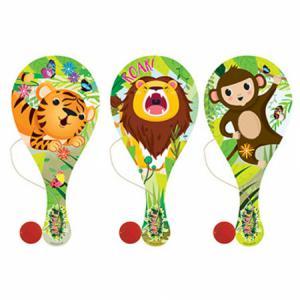 Houten racket met bal Jungledieren