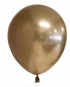 Spiegel-ballon Ghrome Goud 10-stuks Ø 30cm