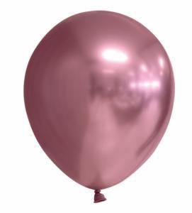 Spiegel-ballon Chrome Roze 10-stuks Ø 30cm