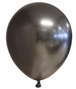 Spiegel-ballon Chrome Antraciet Grijs 10-stuks Ø 30cm