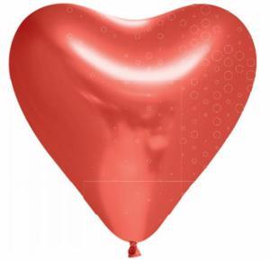 Hart-ballon ROOD latex 6-stuks 30 cm