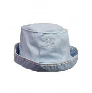 Baby hoedje lichtblauw 3-6 mnd