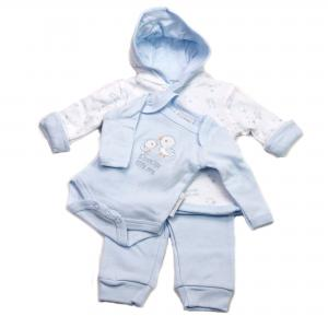 Prematuur 3-deilg baby setje blauw 2,3 - 3,6 kg