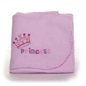 Soft Touch couveuse deken/omslagdoek - roze prinsess