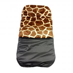 Kinderwagen voetenzak giraffe print.