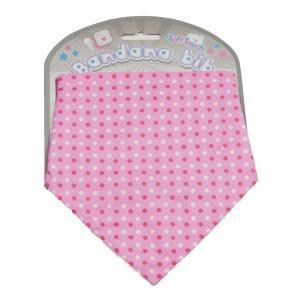 Soft Touch bandana roze met stippen