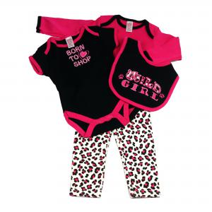 Soft Touch 4 - delig baby setje kleur zwart/roze 0-3 mnd