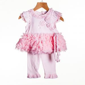 Zip Zap 3-delig babypakje roze maat 74 (9mnd)