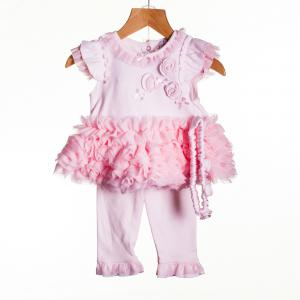 Zip Zap 3-delig babypakje roze maat 86 (1jr)