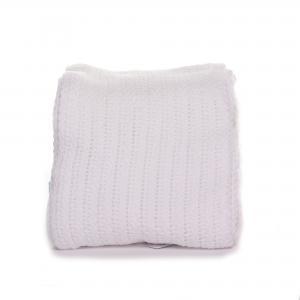 Soft Touch katoenen wiegdeken - wit