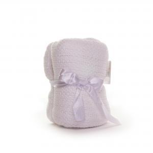Soft Touch katoenen ledikant deken - wit