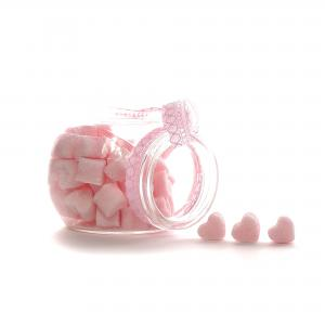 Suikerklontjes in Hartvorm - Roze in glazen potje