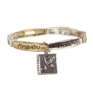 Armband zilver/goud kleur met de tekst NAN