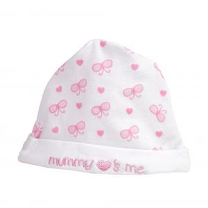 New Born mutsje roze/wit met de tekst Mummy love's me