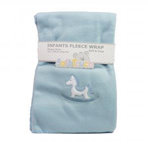Soft Touch deken blauw hobbelpaardje