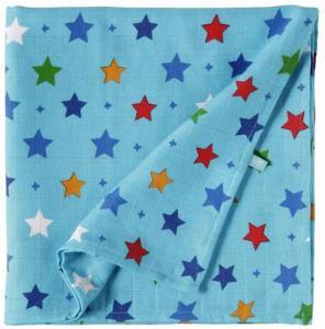 Lief! Lifestyle hydrofieldoek XL/swaddledoek blauw