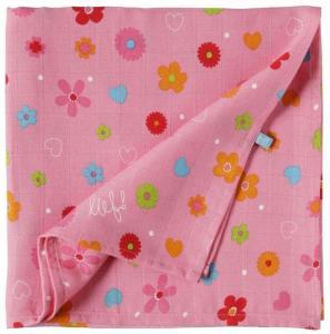 Lief! lifestyle hydrofieldoek XL/swaddledoek roze nog 1 op voorraad.