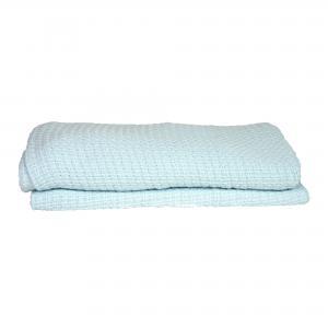 13ea01ea265 Soft Touch katoenen wafeldeken - Blauw ledikant