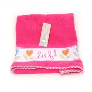 Lief! lifestyle badhanddoek donker roze