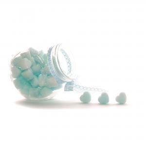 Suikerklontjes in Hartvorm - Blauw in glazen potje