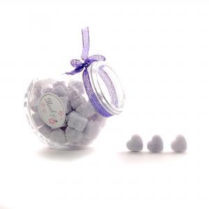 Suikerklontjes in Hartvorm - Paars in glazen potje