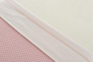 Jollein laken LN 75x100cm Crochet small pink