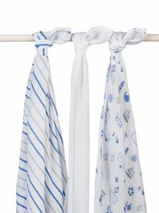 Jollein hydrofiel multidoek 115x115cm Boys at sea (3pack)