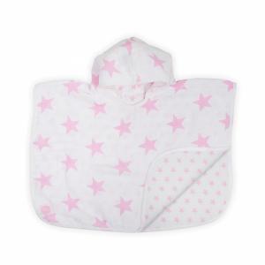 Jollein badponcho hydrofiel 45x60cm Little star pink