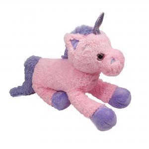 Unicorn knuffel pluche roze 80 cm