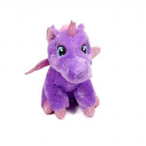 Unicorn knuffel paars 28cm