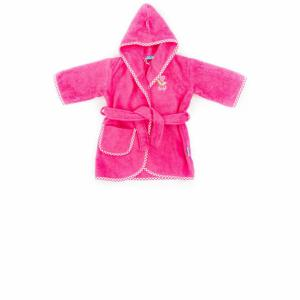 Lief! lifestyle badjas donker roze 0 -12 mnd