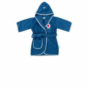 Lief! lifestyle badjas donkerblauw 1 - 2 jaar